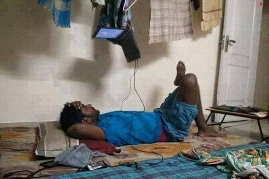 The best way to watch a movie - jugaad way