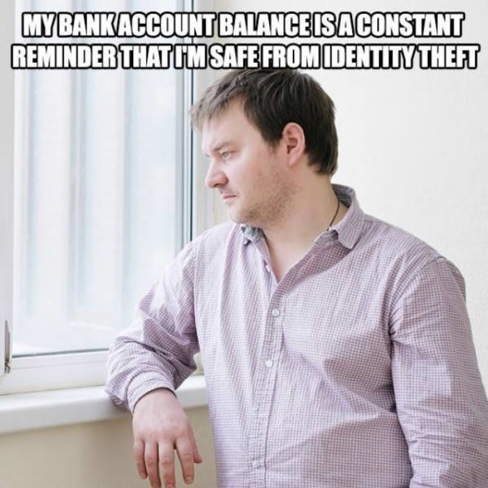 Bank Account balance and identity theft