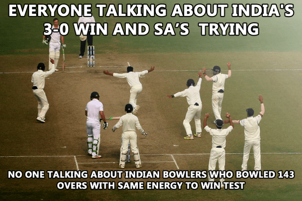 India beat South Africa - Well done bowlers