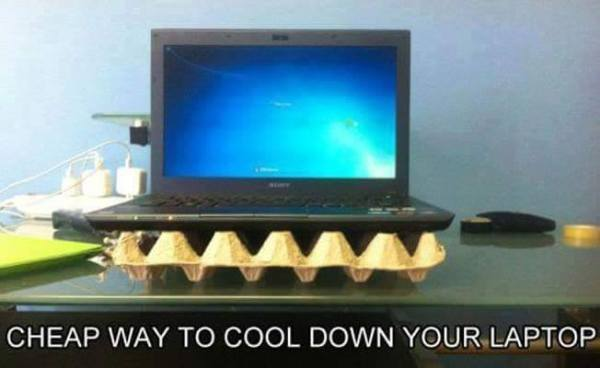 Cheap way to cooldown your laptop