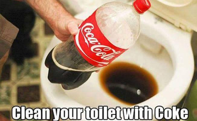 Clean your toilet with coke - hygiene hacks