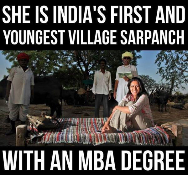 Youngest village sarpanch with an MBA degree