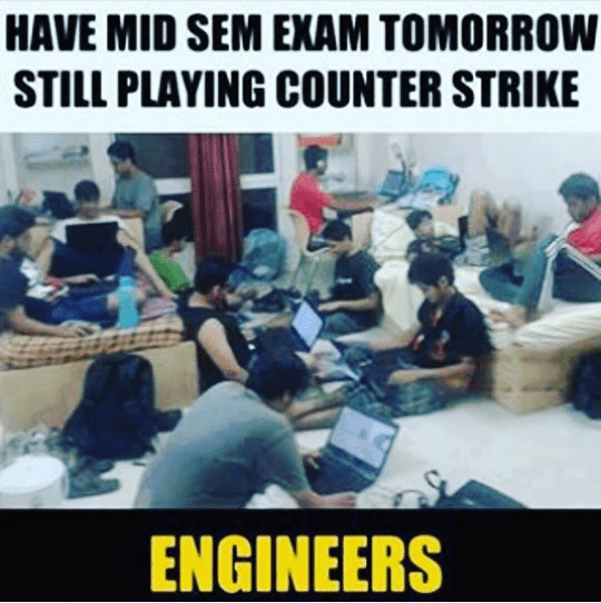 Counter Strike fever in engineers - funny image