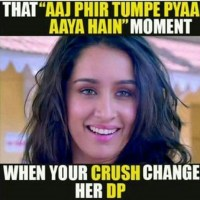 When your crush changes whatsapp DP - love