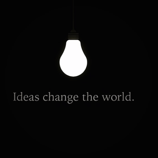 Ideas change the world - mind blowing image
