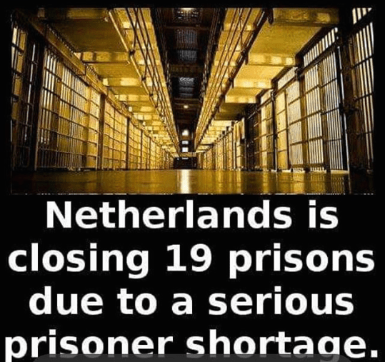 Prisoners shortage in Netherlands - Fact image