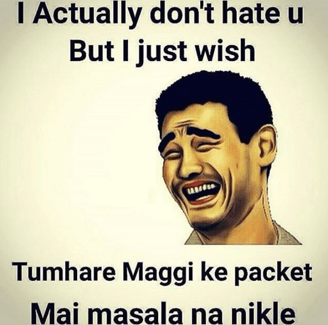No Masala in Maggi - worst wish from a friend