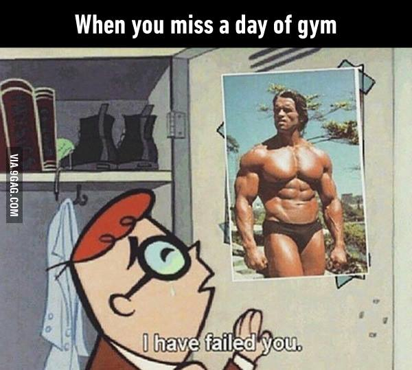 When you miss a day at gym workout - hilarious