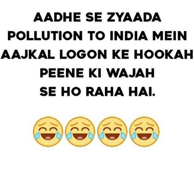 Pollution because of hookah and cigarette