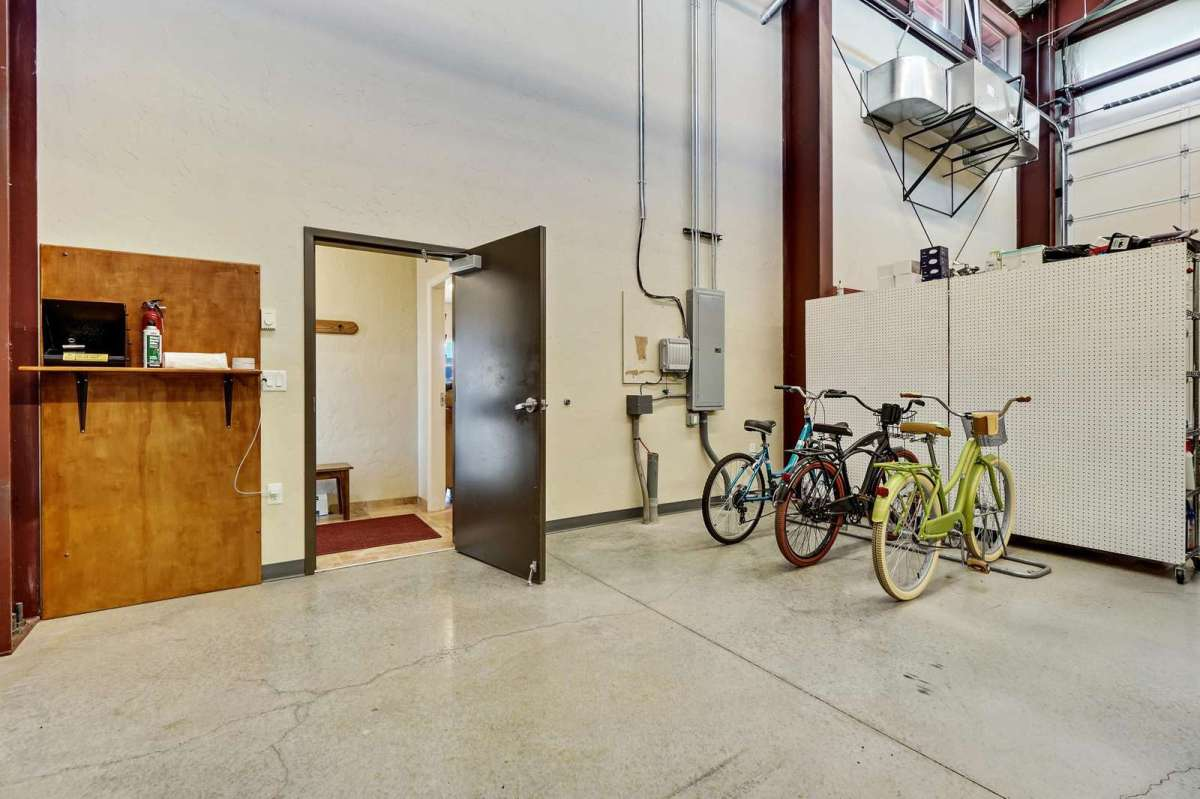 Private garage space with two complimentary bikes for you to ride.