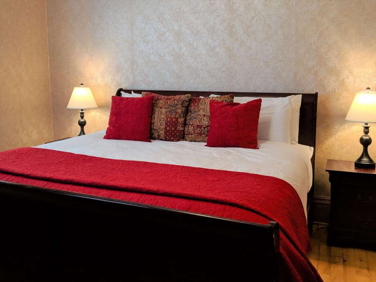 Bedroom #1 is a king size bed located on the main floor with a bathroom
