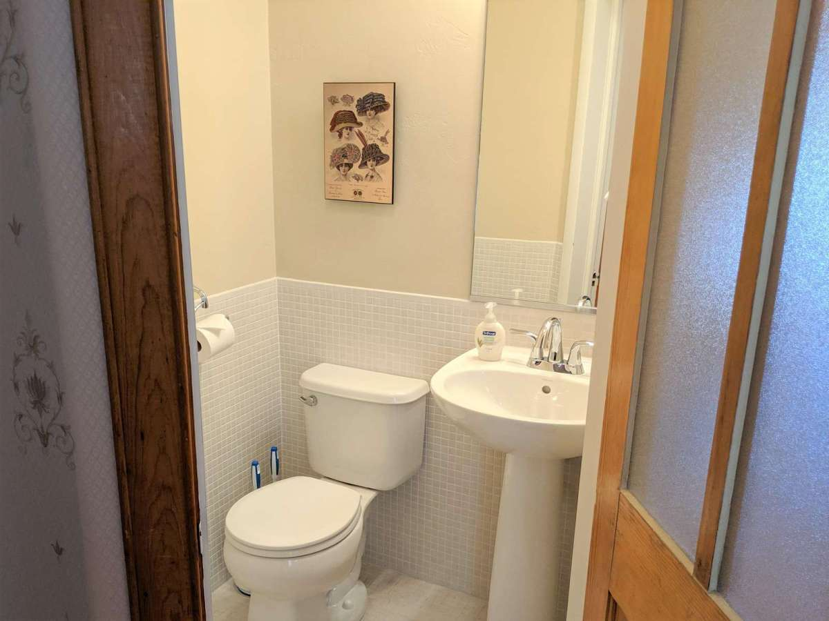 Extra 1/2 bath located on the second level