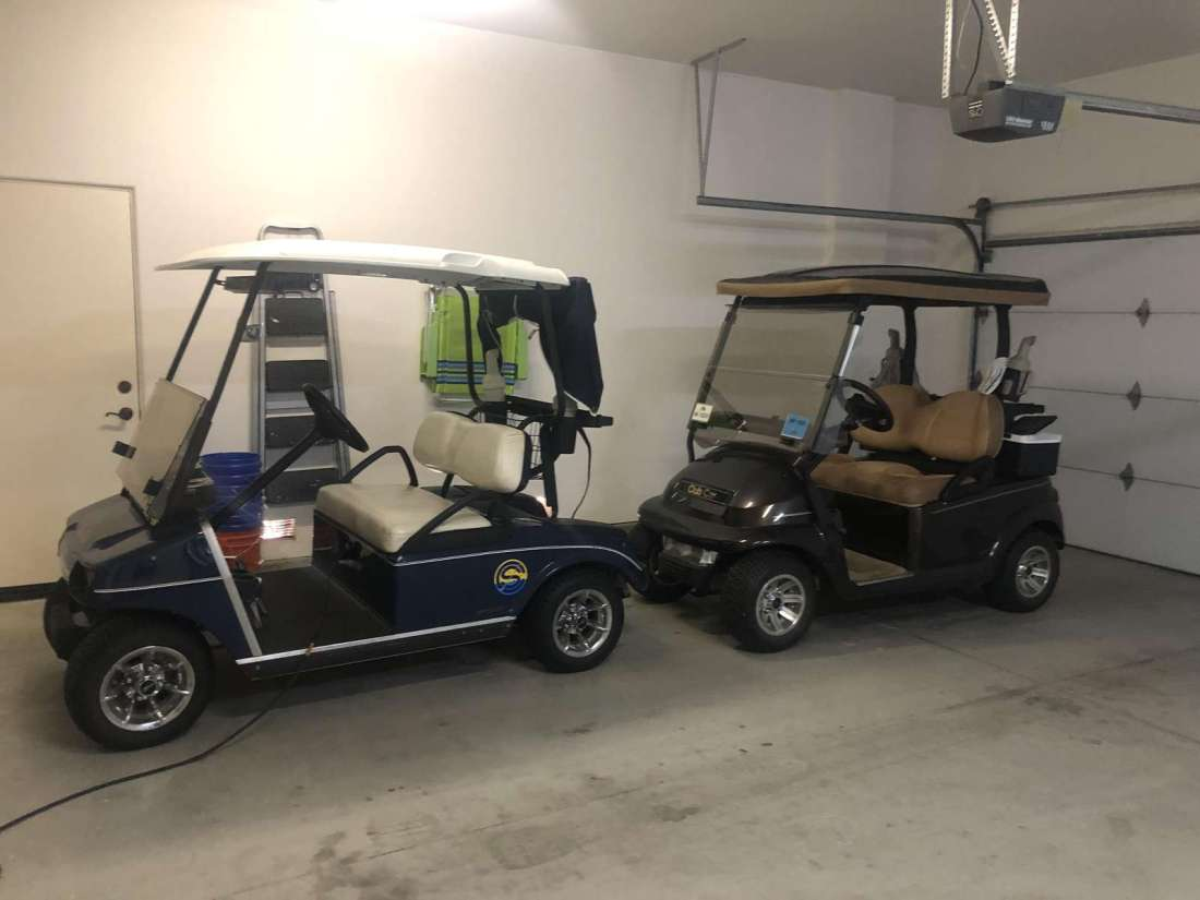2 Electric Golf Carts for your use.