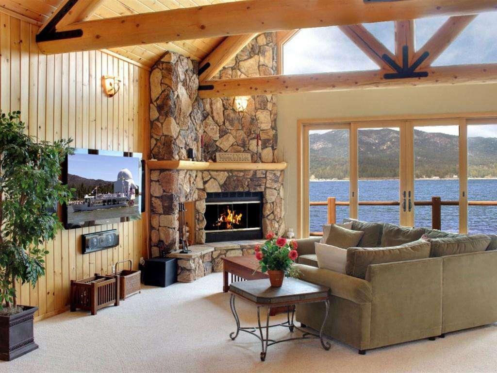 Fireplace, Windows, Views, Vaulted Ceilings