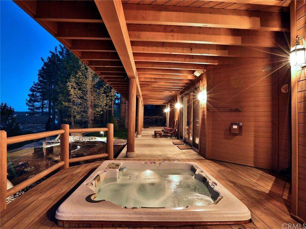 Covered Hot Tub on the Back Deck with Views