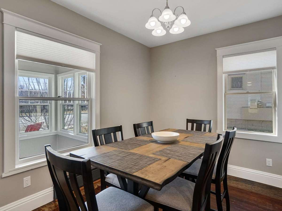 Enjoy a nice meal in our dining room that seats six!