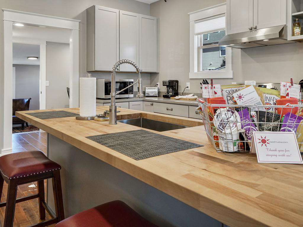 Open kitchen perfect for socializing