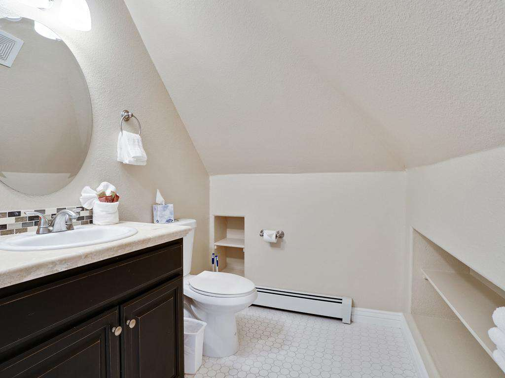 Private bathroom in the master bedroom.