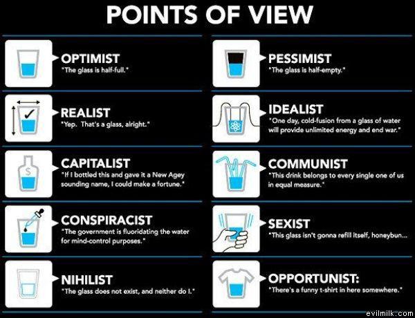 pahar de optimist