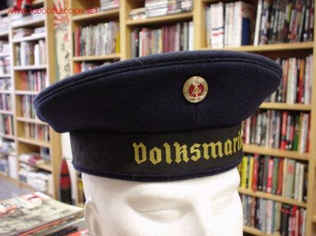 REPÚBLICA DEMOCRÁTICA ALEMANA. DDR  Gorra de marinero. Marina. Azul.  (Militar - Boinas y Gorras )
