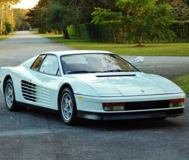 Miami Vice Ferrari Testarossa Can Be Yours For   Million Top Speed