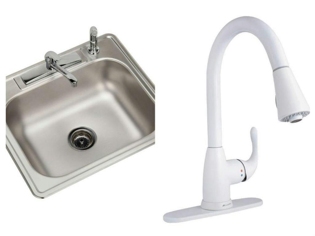 Elkay 7 In Deep Single Bowl Kitchen Sink Amp Glacier Bay