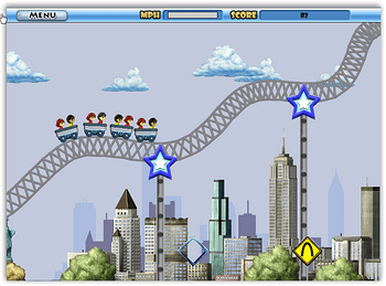 rollercoaster spam game