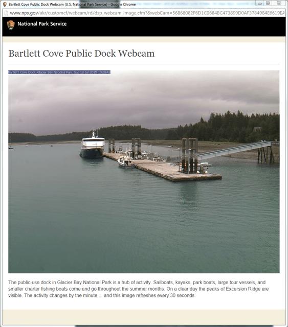webcam of Bartlett cove