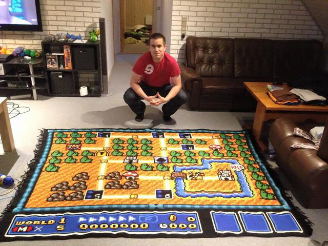 Mario Blanket 1