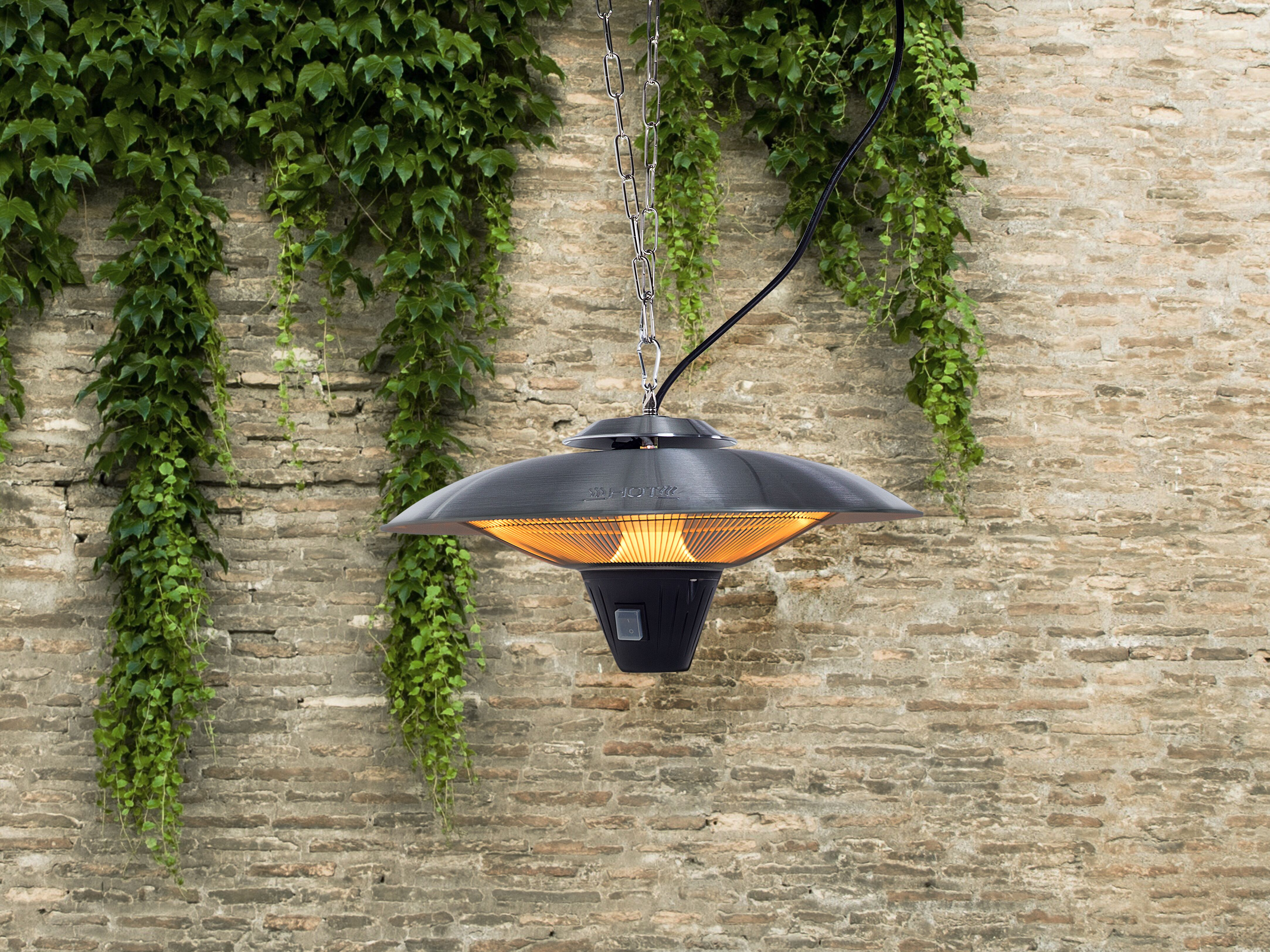 electric patio heater hanging