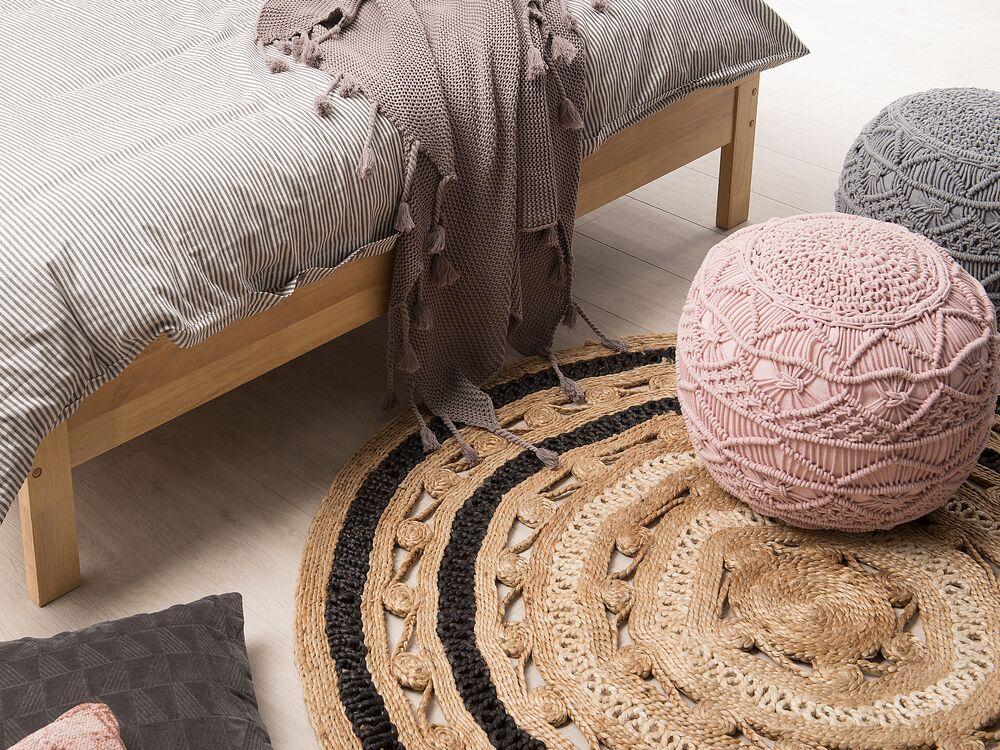 teppich goyne beige schwarz 140 cm ch