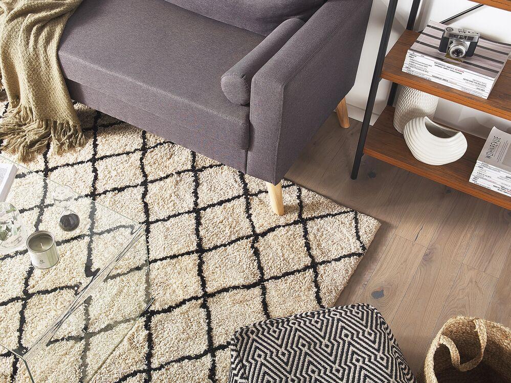 teppich midyat beige schwarz 200x300 cm ch