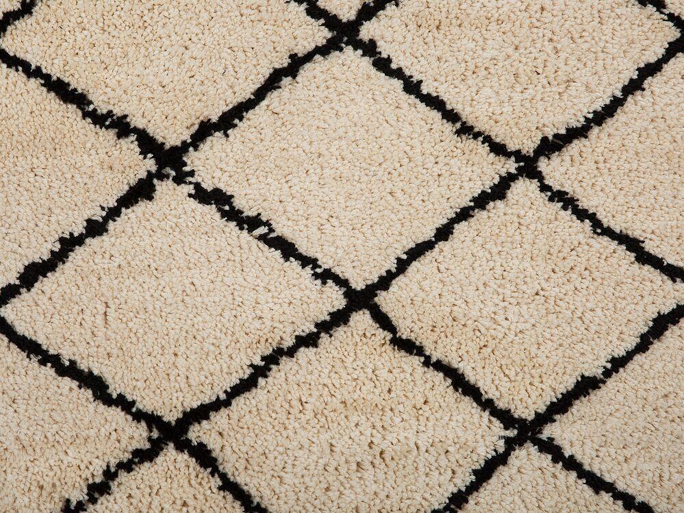 teppich midyat beige schwarz 200x200 cm ch