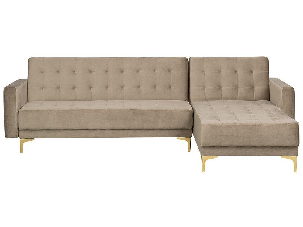 sofa links rechts aberdeen samt sandbeige ch