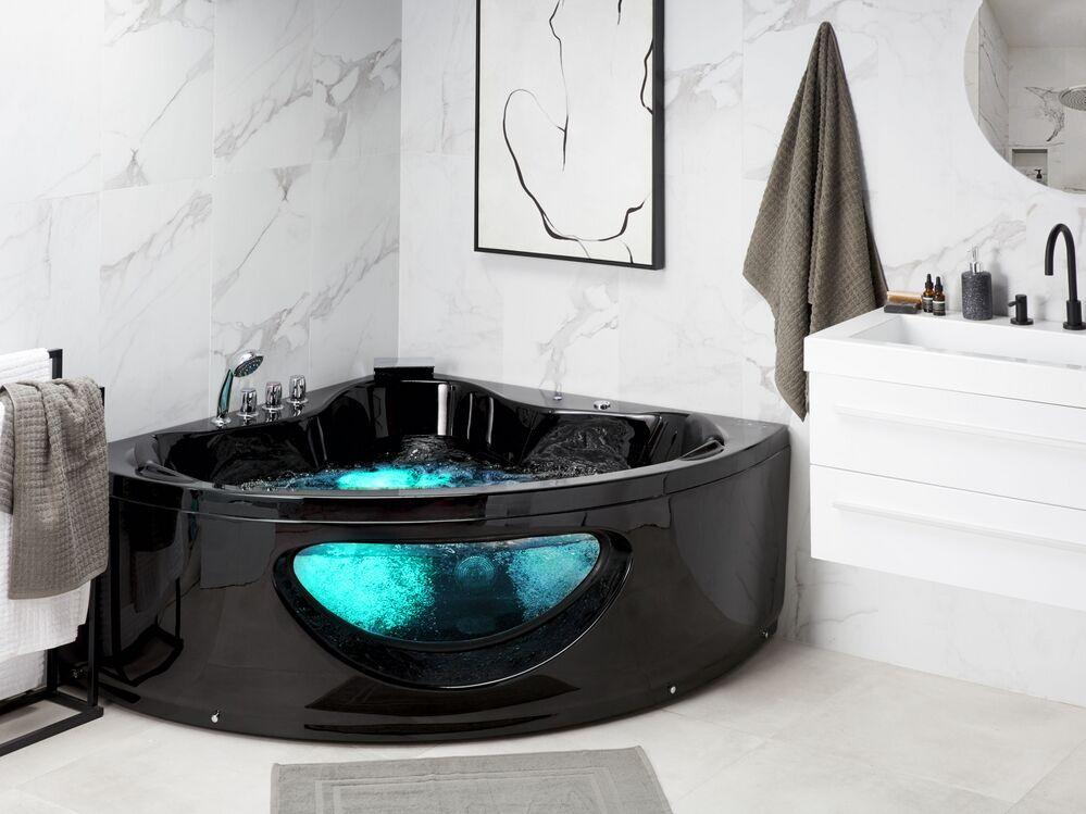 massage badewanne tocoa schwarz 140 cm ch