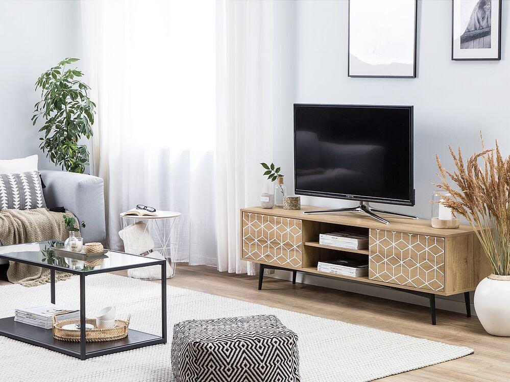 meuble tv bois clair gloucester