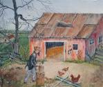 Down On The Farm 14x16 Canvas