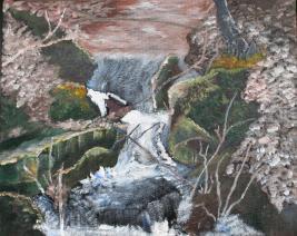 Moose Falls 9x11 Canvas