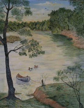 Oscar's Pond 20x16 Canvas