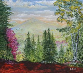 Distant Hills 14x16 Canvas