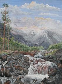 Mountain Stream 16x12 Canvas