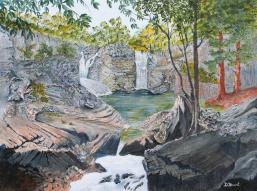 Twin Falls 12x16 Canvas (Inspired by Andrew Gregory Photo)
