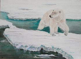 Melting Sea Ice 12x16 Canvas