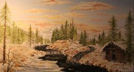Trapper's Valley 12x22 Canvas