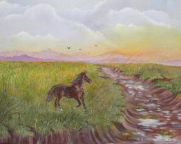 Prarie Day 16x20 Canvas