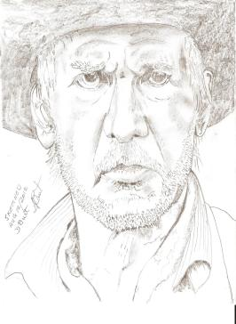 Sketch of Harrison Ford for painting