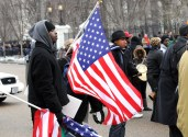 Ivoirian-American Flag Bearer