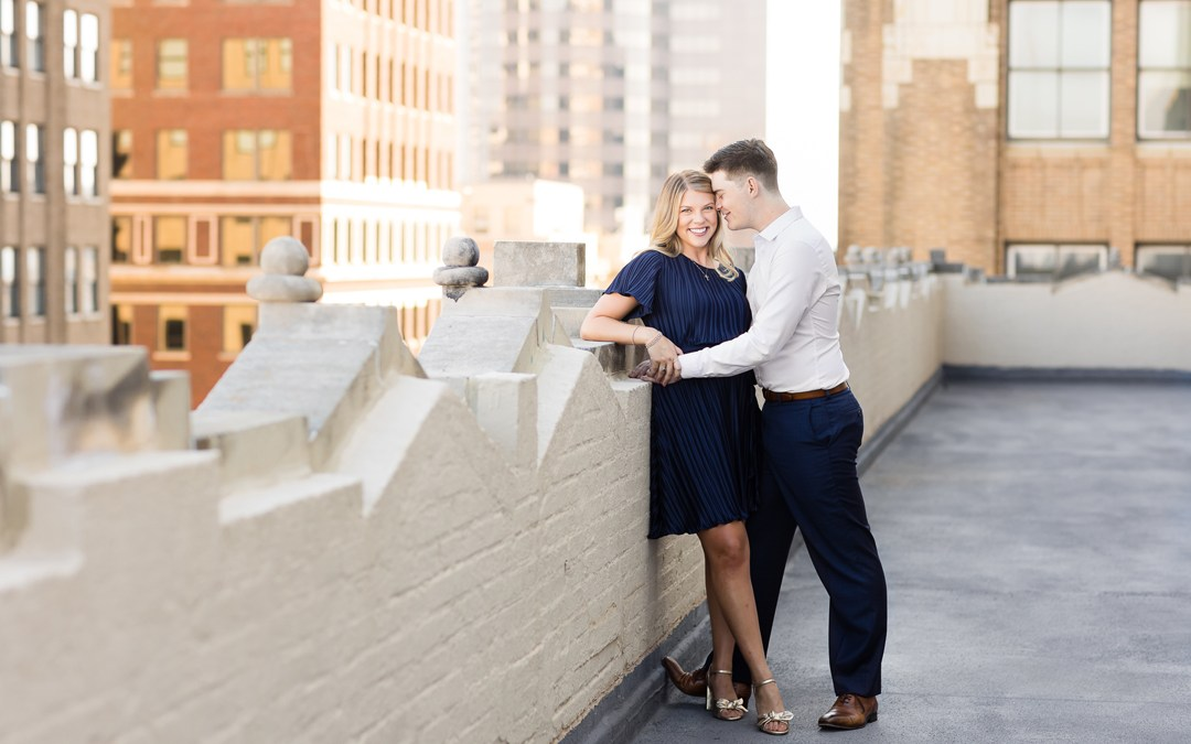Shelby + Stephen | Downtown Tulsa Engagement