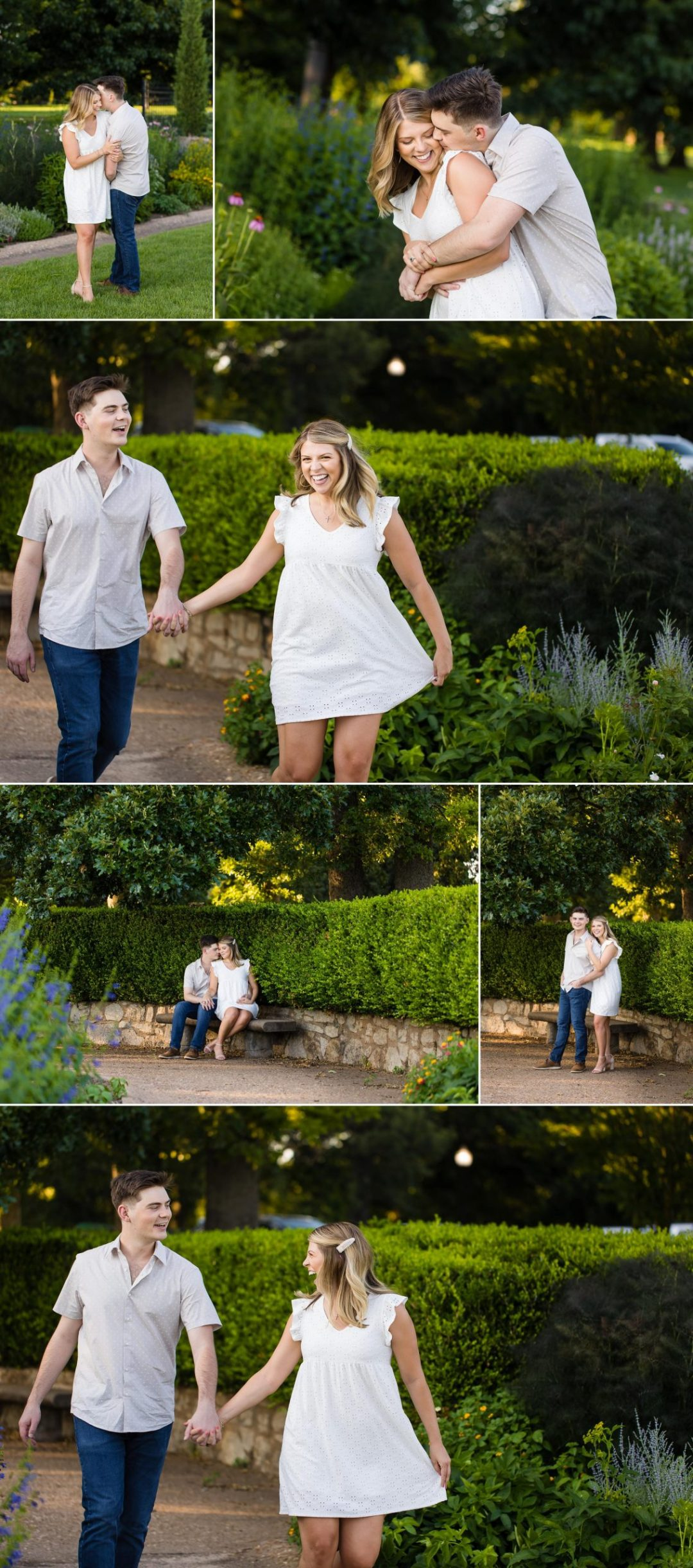 Tulsa Oklahoma Rose Garden Mansion at Woodward Park Engagement Wedding