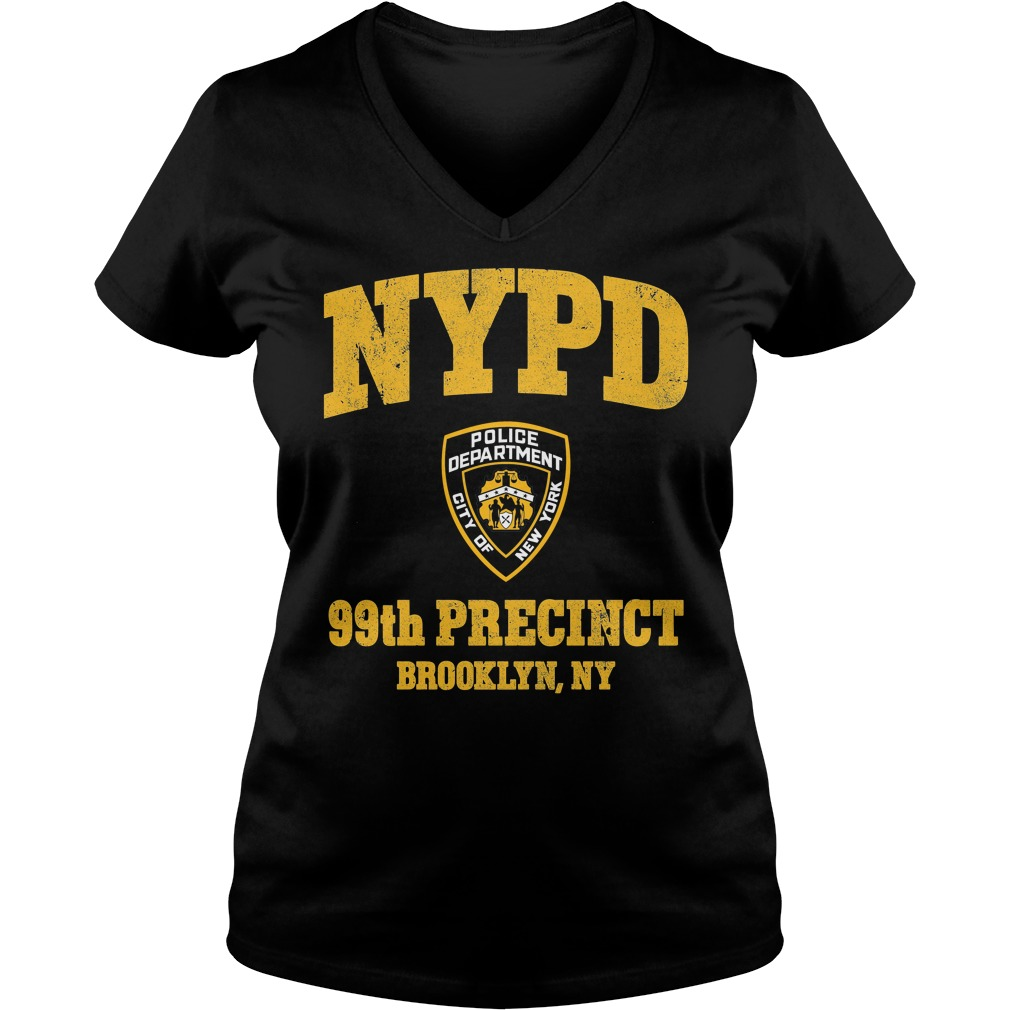 99th Precinct Brooklyn NY Police Department NYPD V-neck t-shirt